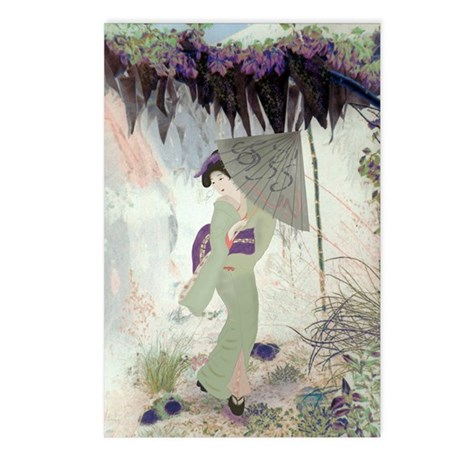 """Geisha in the garden"" Postcards (Packag"
