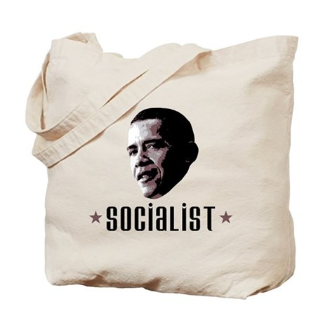 Barack Obama Socialist Tote Bag