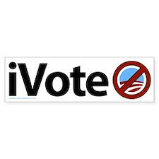 iVote No Obama Bumper Bumper Sticker