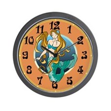 Lovely Mermaid Wall Clock