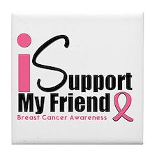 Breast Cancer Support Tile Coaster