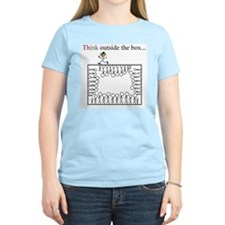 Think outside the box Women's Pink T-Shirt