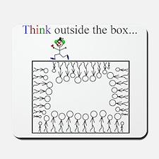 Think outside the box Mousepad
