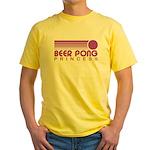 Beer Pong Princess Yellow T-Shirt