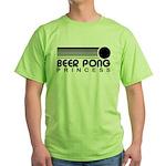 Beer Pong Princess Green T-Shirt