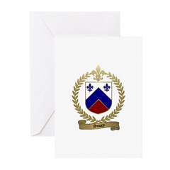 SOUCY Family Crest Greeting Cards (Pk of 10)