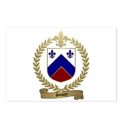 SOUCY Family Crest Postcards (Package of 8)