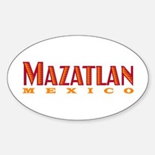 Mazatlan Mexico - Oval Decal