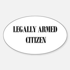 Legally Armed Oval Decal