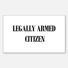 Legally Armed Rectangle Decal