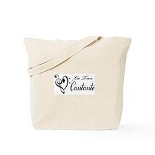 La Tua Cantante (Black Print) Tote Bag