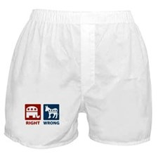 Republicans: Right/Wrong Boxer Shorts