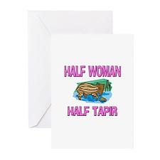 Half Woman Half Tapir Greeting Cards (Pk of 10)