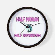 Half Woman Half Swordfish Wall Clock