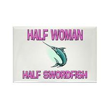 Half Woman Half Swordfish Rectangle Magnet