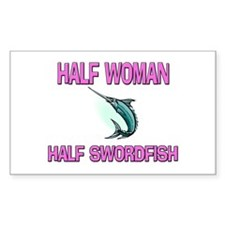 Half Woman Half Swordfish Rectangle Decal