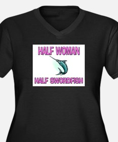 Half Woman Half Swordfish Women's Plus Size V-Neck