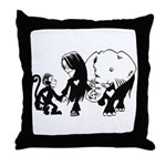 Gillian and Friends Throw Pillow