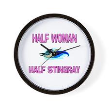 Half Woman Half Stingray Wall Clock