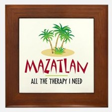 Mazatlan Therapy - Framed Tile