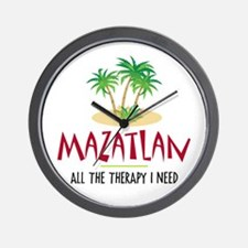 Mazatlan Therapy - Wall Clock