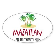 Mazatlan Therapy - Oval Decal