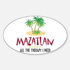 Mazatlan Therapy - Oval Decal