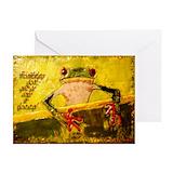 Frog birthday card Greeting Cards