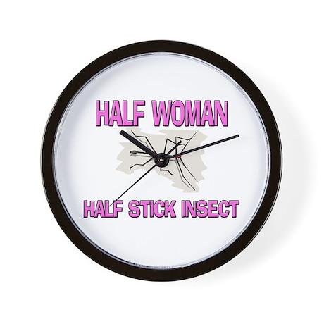 Half Woman Half Stick Insect Wall Clock
