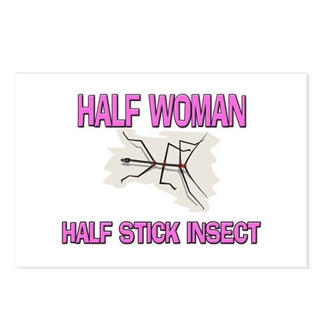 Half Woman Half Stick Insect Postcards (Package of