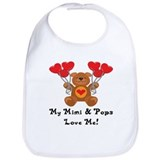 I love my pops Cotton Bibs