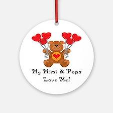 Mimi & Pops Love Me Ornament (Round)