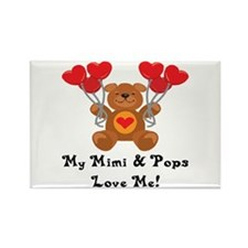 Mimi & Pops Love Me Rectangle Magnet (10 pack)