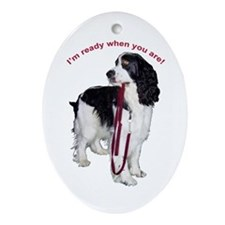 """I'm ready when you are."" Oval Ornament"