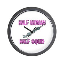 Half Woman Half Squid Wall Clock