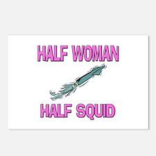 Half Woman Half Squid Postcards (Package of 8)