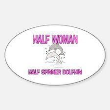 Half Woman Half Spinner Dolphin Oval Decal