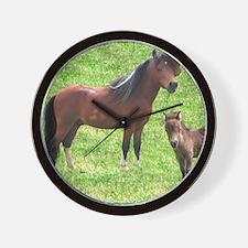 Mini Pinto Stallion & Daughter Wall Clock