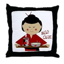 Miso Cute Throw Pillow