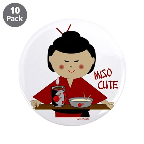 """Miso Cute 3.5"""" Button (10 pack)"""