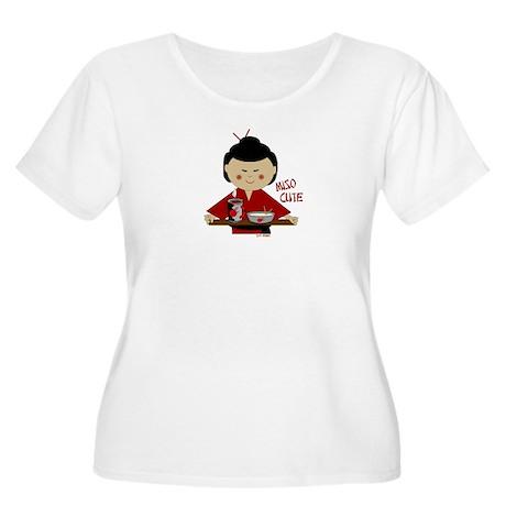 Miso Cute Women's Plus Size Scoop Neck T-Shirt