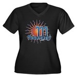 Scorpio Women's Plus Size V-Neck Dark T-Shirt