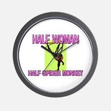 Half Woman Half Spider Monkey Wall Clock