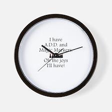 Magic Markers Wall Clock