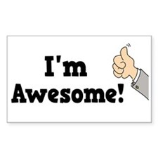 I'm Awesome Rectangle Decal