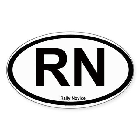 Rally Novice Oval Sticker