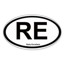 Rally Excellent Oval Decal