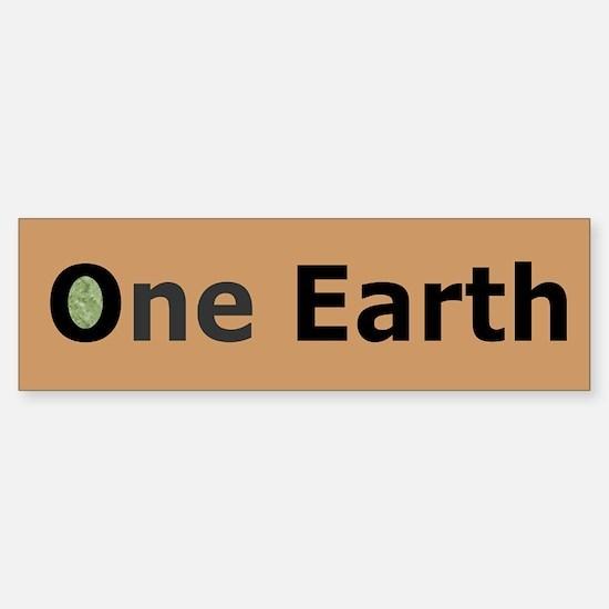 #4 ONE EARTH (bumper stickler)