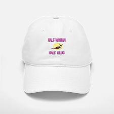 Half Woman Half Slug Baseball Baseball Cap