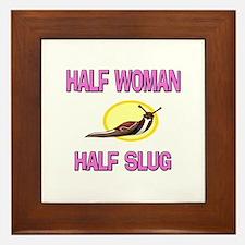 Half Woman Half Slug Framed Tile